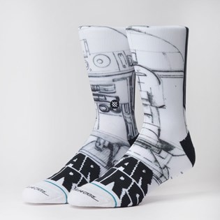 Meia Stance Star Wars Mcquarrie R2D2 White M558B19MCQ-WHT