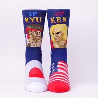 Meia Stance Street Fighter II Ryu Vs Ken Navy M545A18RYU