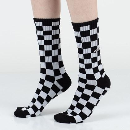 Meia Vans Checkboard Crew II Black White VN0A3H3NHU0