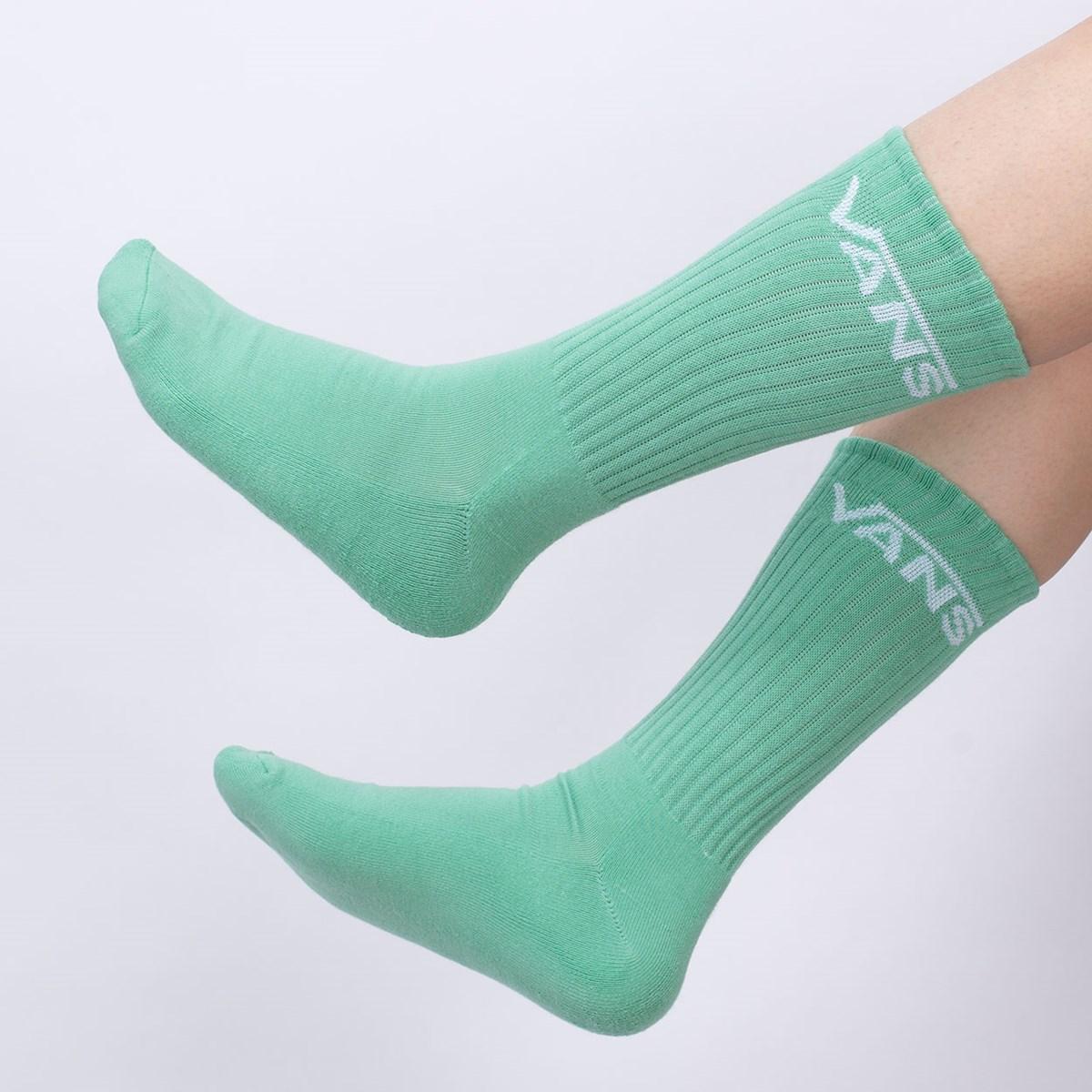 Meia Vans Classic Crew Kit 3 Pares Dusty Jade Green VN000XSEYKC