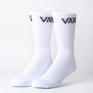Meia Vans Classic Feminina Crew Kit 3 Pares White VNB00XRZWHT