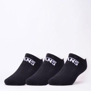 Meia Vans Classic Kick Kit 3 Pares  Black VNB00XS8BLK