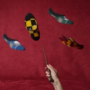 Meia Vans Feminina Harry Potter Hogwarts Canoodle Kit 4 Pares Multi VN0A48H8UXF