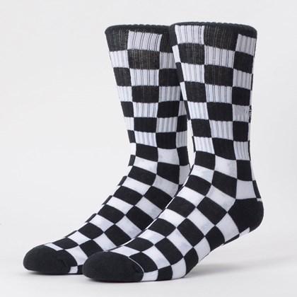 Meia Vans Masculina Checkerboard Crew II Black VN0A4A5WHU0