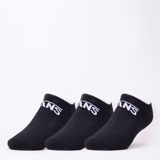 Meia Vans Masculina Classic Kick Kit 3 Pares Black VNB00XS8BLK