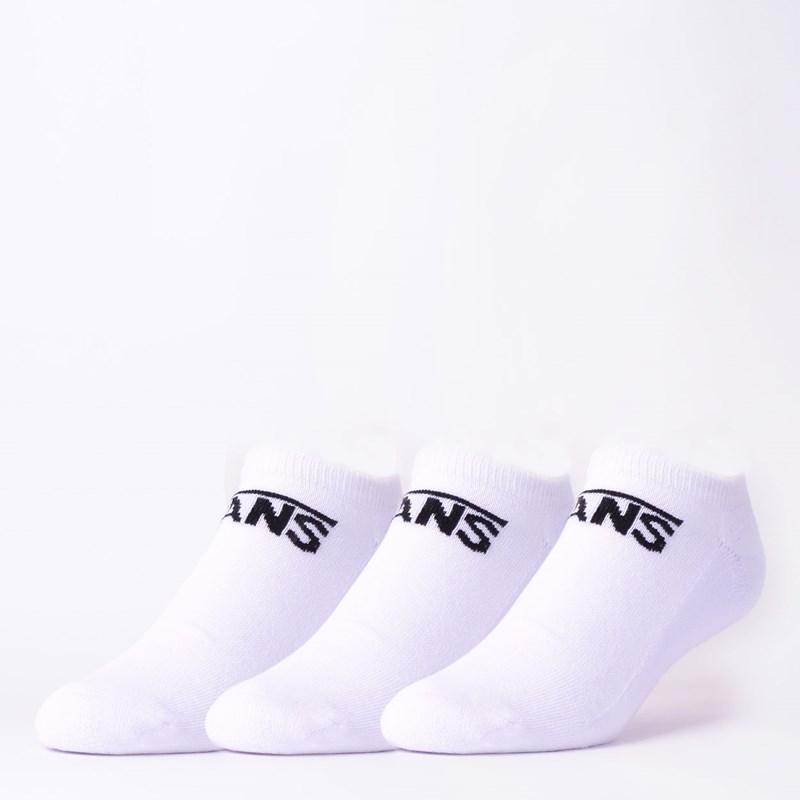 Meia Vans Masculina Classic Kick Kit 3 Pares White VNB00XS8WHT