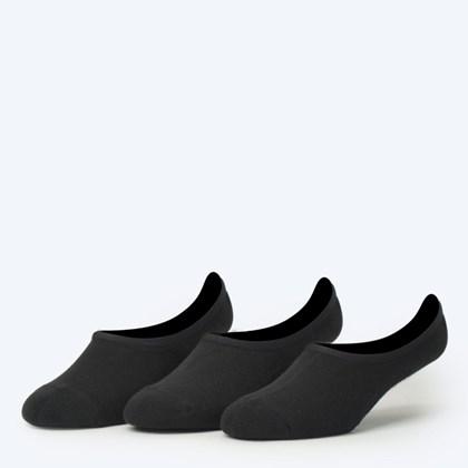 Meia Vans Masculina Classic Super No Show Kit 3 Pares Black VN000XTTBLK