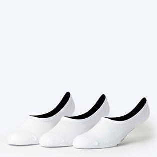 Meia Vans Masculina Classic Super No Show Kit 3 Pares White VN000XTTWHT