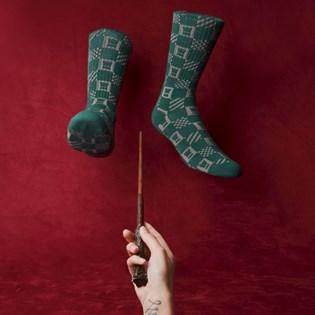 Meia Vans Masculina Harry Potter Crew Slytherin VN0A3I67SP4