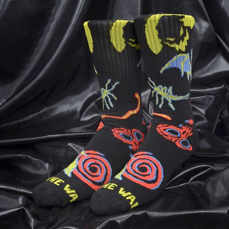 Meia Vans Masculina The Nightmare Before Christimas Crew Sock Oogie Boogie Nightmare VN0A45F9TA5