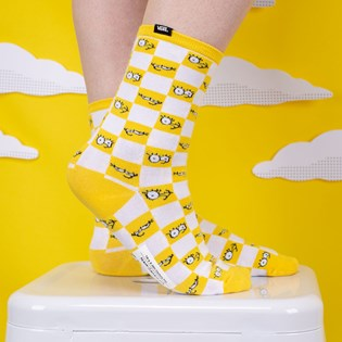 Meia Vans The Simpsons Feminina Check Eyes Sock VN0A4V46ZZY