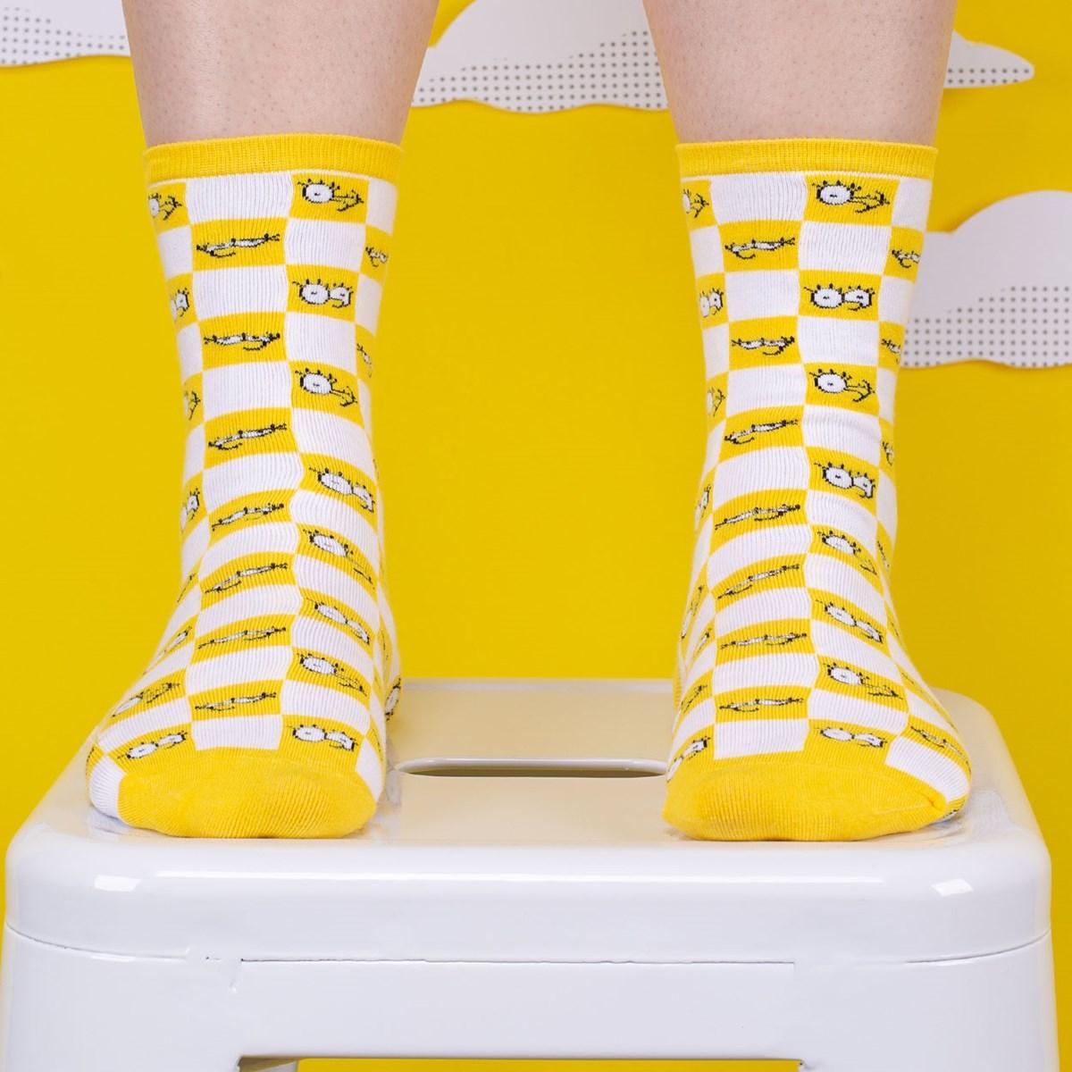 Meia Vans The Simpsons Feminina Check Eyes Sock VN0A4V46ZZY