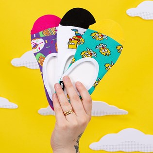Meia Vans The Simpsons Feminina Family Canoodles Kit 3 Pares Simpsons VN0A4V4AZZZ