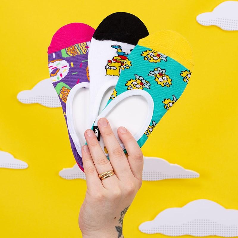 Meia Vans The Simpsons Feminina Family Canoodles Kit 3 Pares Simpsons VN0A4V4AZZZ