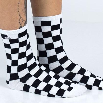 Meia Vans Ticker Sock Black Checkerboard VN0A49ZDBKC