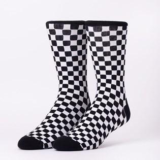 Meia Vans Ticker Sock Black White Checkerboard VN0A2XBN56M