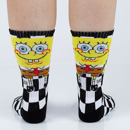 Meia Vans X Spongebob Squarepants Crew Checkerboard VN0A5FHOQ7Y