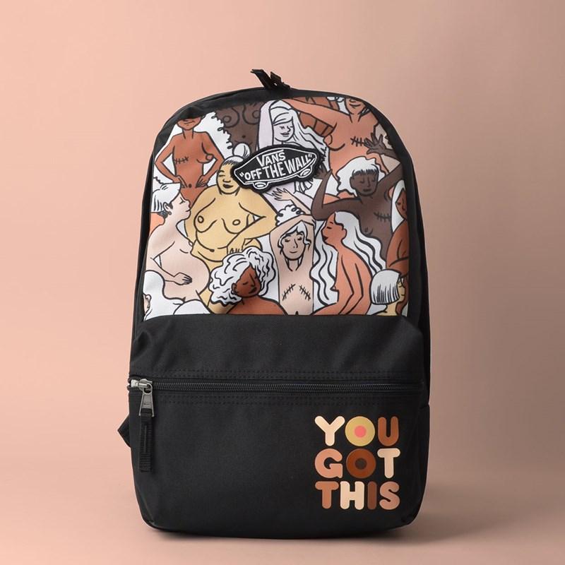 Mini Mochila Vans Calico Breast Cancer Backpack  Girl Gang VN0A4CUJZTO
