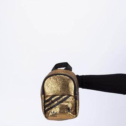 Mochila adidas Mini Originals Black Gold Metallic GN2150