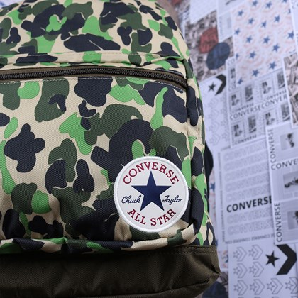 Mochila Converse Go 2 Backpack Camo Surplus Olive 10017272-A04
