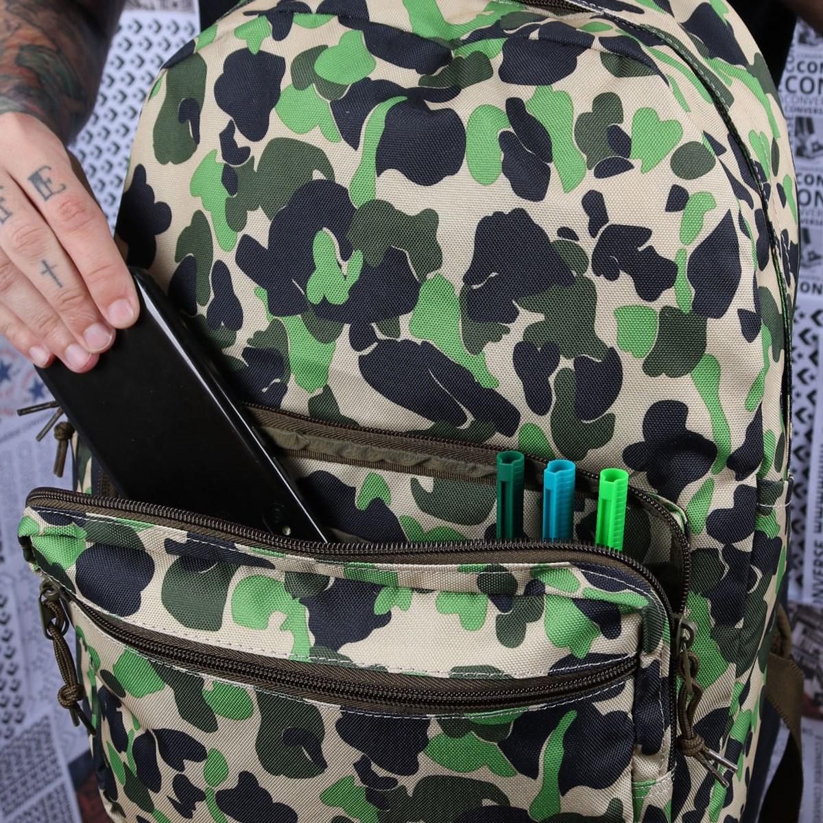 Mochila Converse Go 2 Backpack Camo Surplus Olive 10017272-A04