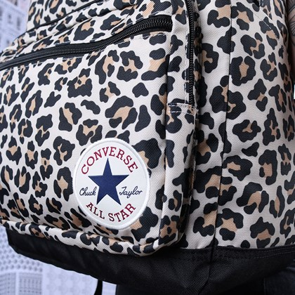 Mochila Converse Go 2 Backpack Leopard Black 10017272-A05