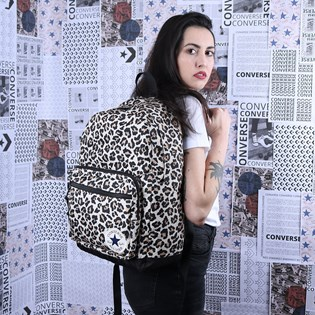 Mochila Converse Go 2 Backpack Leopard Black 10017272-A05