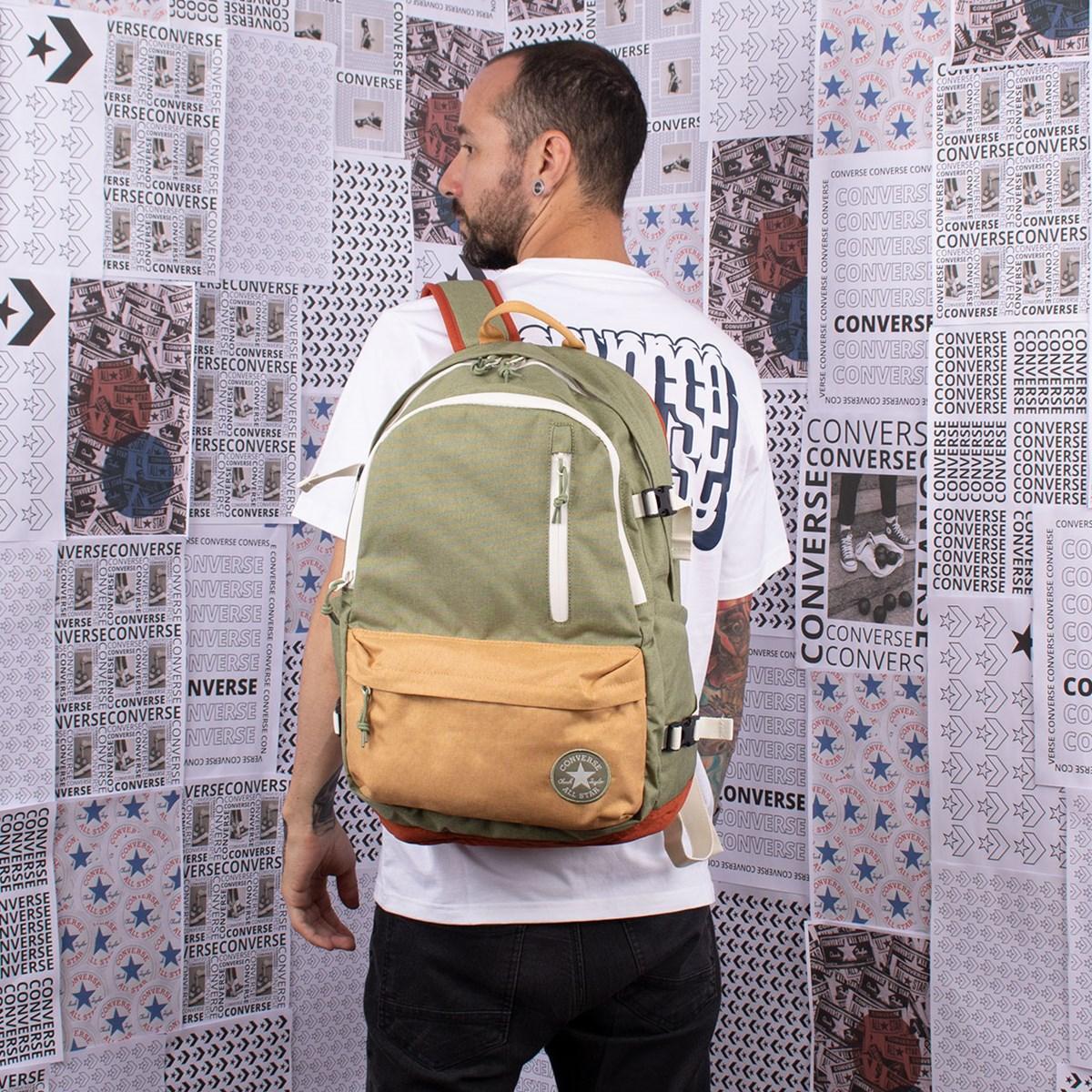Mochila Converse Straight Edge Backpack Street Green 10018972-A02