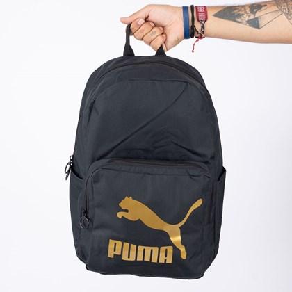 Mochila Puma Originals Backpack Black Gold 077353-01