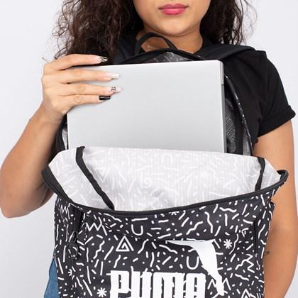 Mochila Puma Originals Backpack Black White Doodle 077353-04