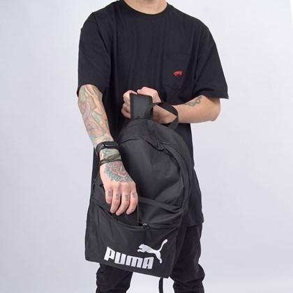 Mochila Puma Phase Backpack Black 07548701