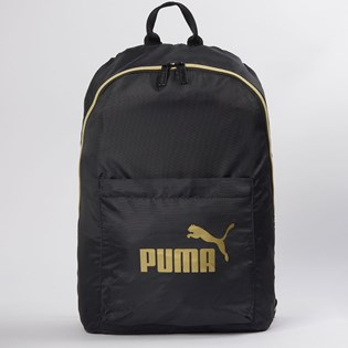Mochila Puma WMN Core Seasonal Backpack Preto Ouro 07657301