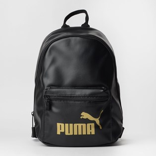 Mochila Puma WMN Core Up Archive Backpack Preto Ouro 07657701