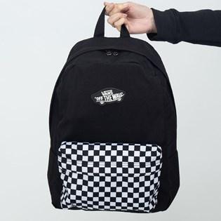 Mochila Vans By New Skool Backpack Boys Black Chekerboard VN0002TL2OB