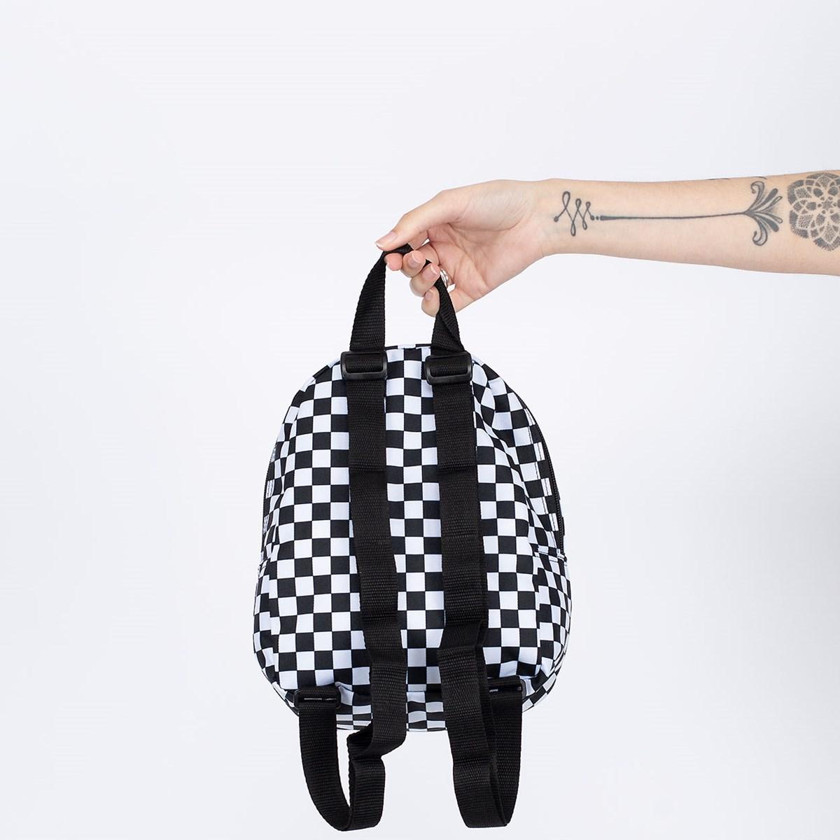 Mochila Vans Got This Mini Backpack Black White Checkerboard VN0A3Z7W56M