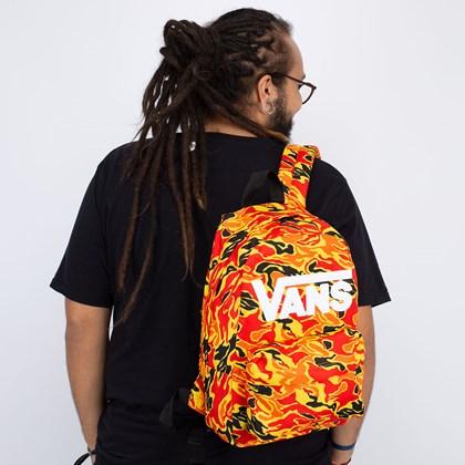 Mochila Vans New Skool Backpack Boys Flame Camo VN0002TLZ7D