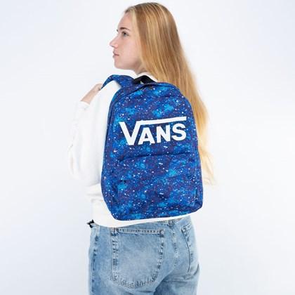Mochila Vans New Skool Backpack Boys Galactic Glow VN0002TLZBA
