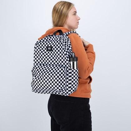 Mochila Vans Old Skool Checkerboard Black White VN0A5KHRY28