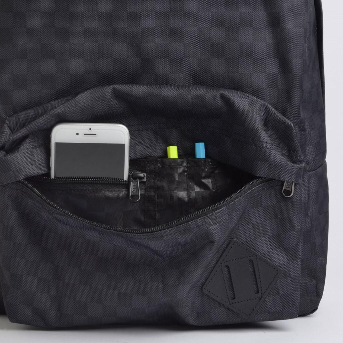 Mochila Vans Old Skool III Backpack Black Charcoal VN0A3I6RBA5