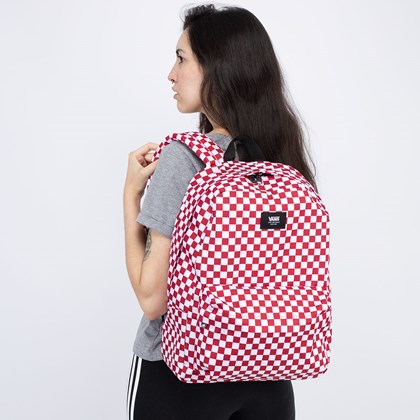 Mochila Vans Old Skool III Backpack Chili Pepper Checkerboard VN0A3I6R976