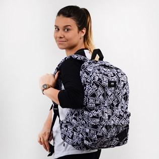 Mochila Vans Old Skool III Backpack Off The Wall Black White VN0A3I6ROTW