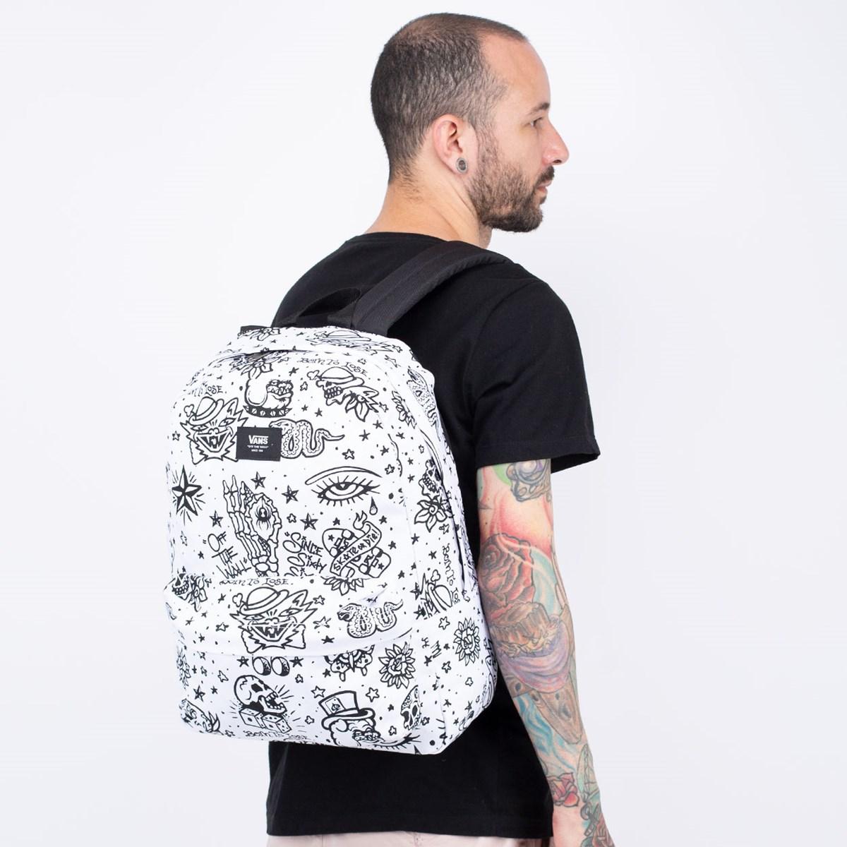 Mochila Vans Old Skool III Backpack U-Color White VN0A3I6RZYM