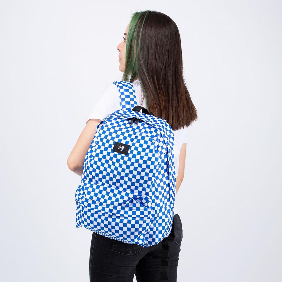 Mochila Vans Old Skool III Backpack Victoria Blue Checkerboard VN0A3I6RZZ4
