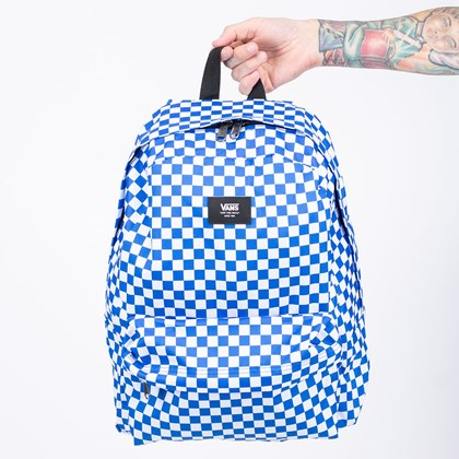 Mochila Vans Old Skool III Backpack Victoria Blue Checkerboard VN0A3I6RZZ4