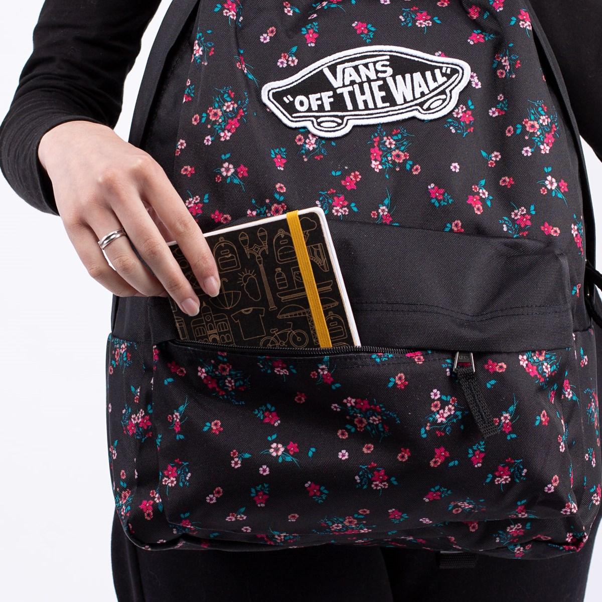Mochila Vans Realm Backpack Beauty Floral Black VN0A3UI6ZX3