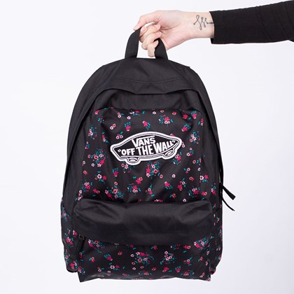 Mochila Vans Realm Backpack Beauty Floral Black VN0A3UI6ZX3