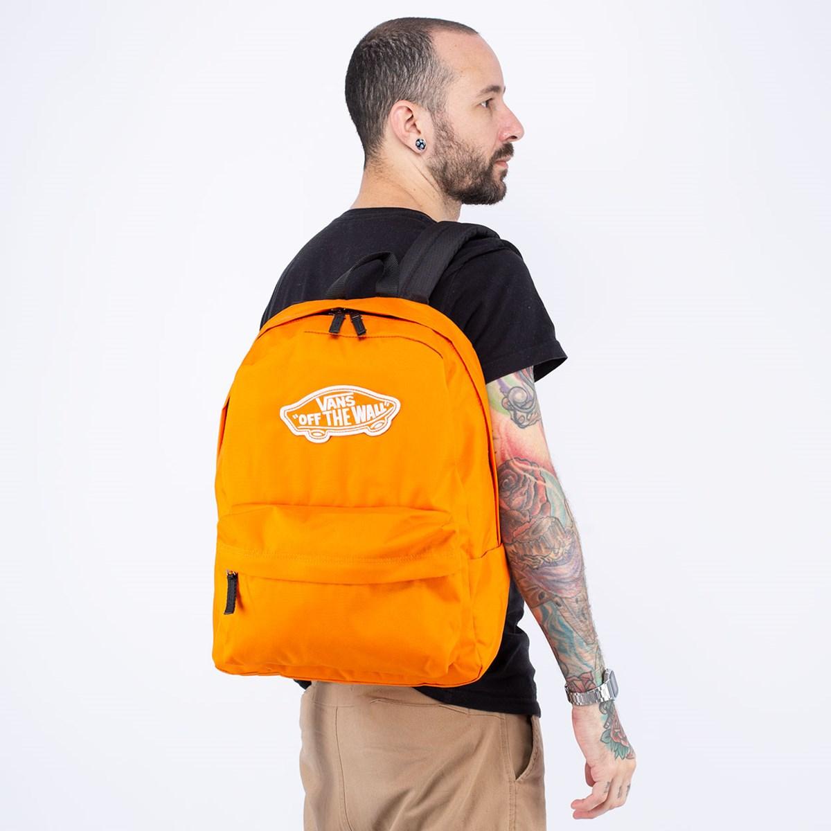 Mochila Vans Realm Backpack Exuberance Orange VN0A3UI6PUB