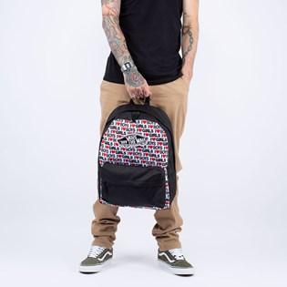 Mochila Vans Realm Backpack I Heart Boys Girls Black White VN0A3UI6VDA