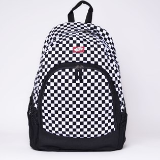 Mochila Vans Van Doren Backpack Black White Checkerboard VN-0C8YY28