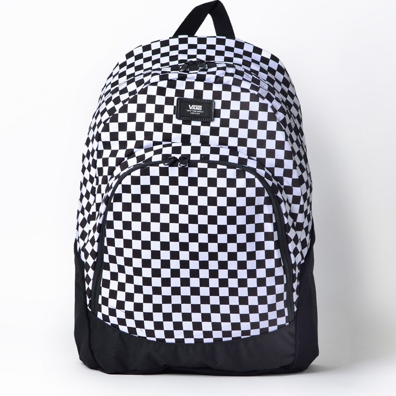 872f41fb358ad Mochila Vans Van Doren Original Backpack Checkerboard Black White  VN0A36OSY28